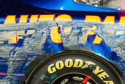 Championship victory lane: damage on the car of Chase Elliott