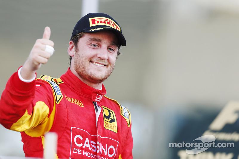 Il vincitore della gara Stefano Coletti, pilota del team Racing Engineering