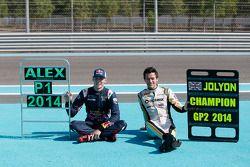 GP3 champion Alex Lynn, Carlin and GP2 champion Jolyon Palmer, DAMS