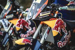Dettaglio della moto KTM ufficiale Red Bull