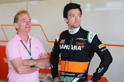 Jolyon Palmer, Sahara Force India F1 Team, piloto de pruebas con su padre, Jonathan Palmer