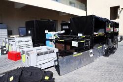 el equipo pack deir freight en el paddock al final de la temporada