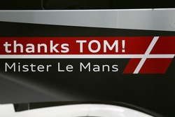 A special message for the retiring Tom Kristensen