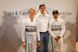 Nico Rosberg, Toto Wolff, Lewis Hamilton