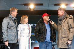 Prof. Dr. Thomas Weber, Susie Wolff, Niki Lauda, Heiko Wasser