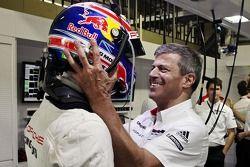 Mark Webber festeggia