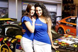 Lovely display girls