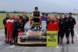Petter Solberg fête son titre 2014
