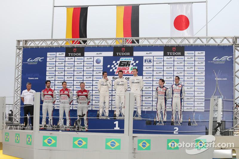 2014 - Vencedores: Neel Jani, Romain Dumas, Marc Lieb; segundo lugar: Anthony Davidson, Sebastien Buemi; terceiro lugar: Lucas di Grassi, Loic Duval, Tom Kristensen