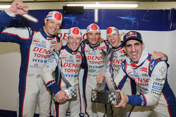Alexander Wurz, Anthony Davidson, Stéphane Sarrazin, Mike Conway, Sebastien Buemi, Toyota Racing fes