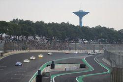Clean up of crash involving Mark Webber and Matteo Cressoni