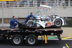 Unfallauto von Mark Webber, Porsche Team, Porsche 919 Hybrid