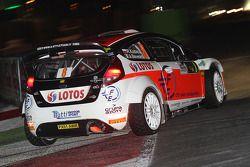 Robert Kubica y Alessandra Benedetti, Ford Fiesta WRC