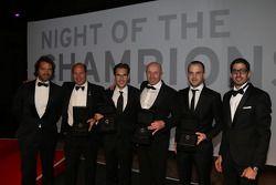 Blancpain winnaars: Stéphane Ratel, Vincent Vosse, Laurens Vanthoor, Hugo da Silva