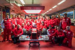 Sebastian Vettel and the Scuderia Ferrari team
