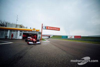 Sebastian Vettel test Ferrari F2012