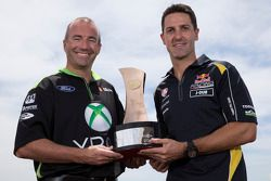 Jamie Whincup, Red Bull Holden and Marcos Ambrose, Team Penske Ford