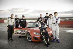 De acht finalisten voor de Mazda club racer shootout