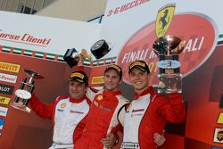 Ferrari Challenge Europe - Podium Course 1 - Trofeo Pirelli PRO: Philipp Baron, Dario Caso, Daniele di Amato