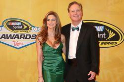 NASCAR CEO e presidente, Brian France e sua esposa Amy