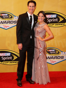 Joey Logano and his fiance Brittany Baca