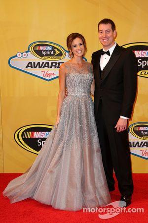 Kyle Busch e sua esposa Samantha