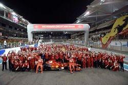 Ferrari group photo with Kimi Raikkonen and Marc Gene
