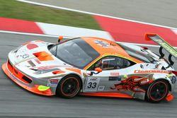 #33 Clearwater Racing, Ferrari 458 GT3: Richard Wee, Matt Griffin