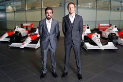 Fernando Alonso en Jenson Button, McLaren Honda