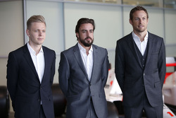 Дженсон Баттон, Фернандо Алонсо и Кевин Магнуссен. Объявление пилотов McLaren, Особое мероприятие.