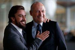 Fernando Alonso and Ron Dennis, Chairman & CEO of McLaren