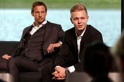 Jenson Button en Kevin Magnussen, McLaren Honda