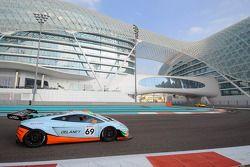 #69 Gulf Racing Lamborghini Gallardo FL2: Roald Goethe, Stuart Hall, Frederic Fatien