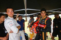 Jolyon Palmer y Esteban Ocon