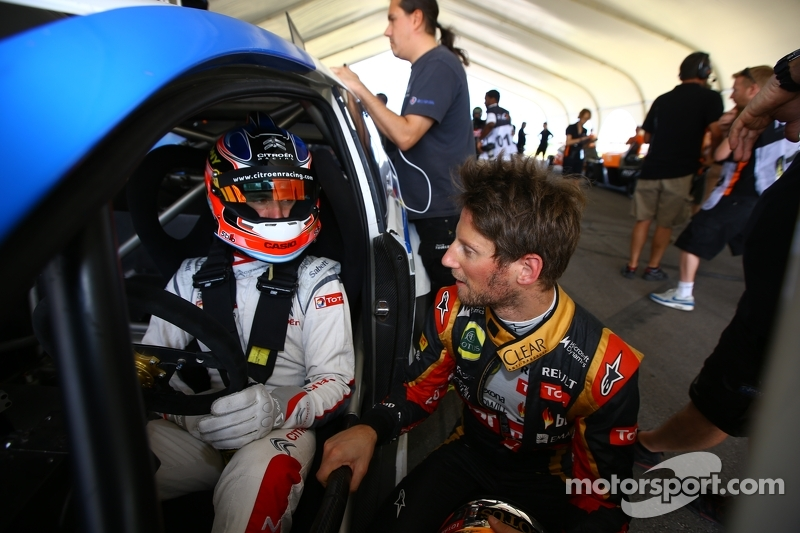Jose María López y Romain Grosjean