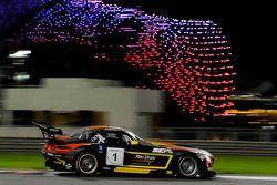 #1 Abu Dhabi Racing Black Falcon Mercedes SLS AMG GT3: Khaled Al Qubaisi, Jeroen Bleekemolen, Bernd Schneider