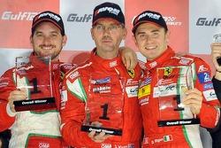 Podium: race winners Steve Wyatt, Michele Rugolo, Davide Rigon
