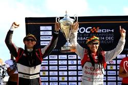 Winners Tom Kristensen and Petter Solberg