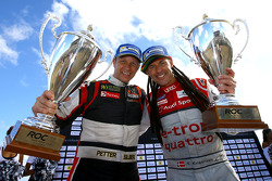 Los ganadores Tom Kristensen y Petter Solberg