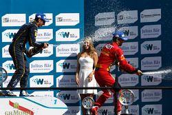 Podium: 1er Sébastien Buemi, e.dams-Renault, 3ème Lucas di Grassi, Audi Sport ABT