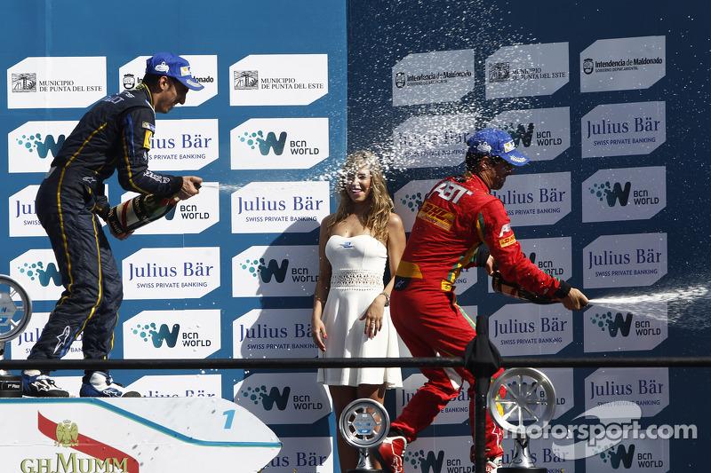 Podium: El ganador Sebastien Buemi, e.dams-Renault, tercer lugar Lucas di Grassi, Audi Sport ABT