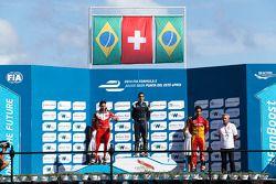 Podium: 1er Sébastien Buemi, e.dams-Renault, 2ème Nelson Piquet Jr., China Racing, 3ème Lucas di Grassi, Audi Sport ABT