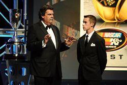 NASCAR K&N Pro Series East champion Ben Rhodes and NASCAR president Mike Helton