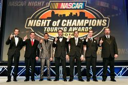 NASCAR Touring, i campioni Anthony Kumpen, Andy Seuss, Abraham Calderon, Louis-Philippe Dumoulin, Do