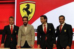 Kimi Raikkonen, Fernando Alonso, Pedro de la Rosa, Marc Gene