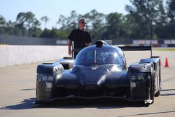 The Extreme Speed Motorsports HPD ARX-04b tests for the first time