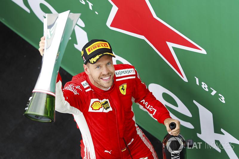 Sebastian Vettel, racewinnaar