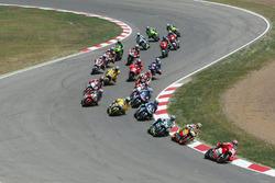 Loris Capirossi, Ducati Team, leads
