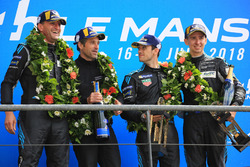 LMGTE Am podium: winners Christian Ried, Julien Andlauer, Matt Campbell, Proton Competition