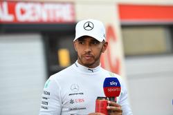 Lewis Hamilton, Mercedes-AMG F1 talks with Sky TV